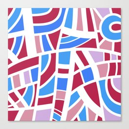 Broken Pink And Blue Abstract Canvas Print