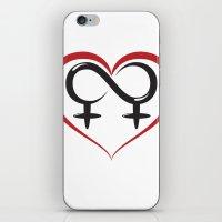 lesbian iPhone & iPod Skins featuring Lesbian Love by Zabastica