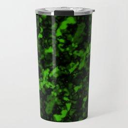 A gloomy cluster of green bodies on a dark background. Travel Mug