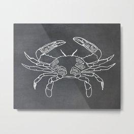 Crab Butcher Diagram (Seafood Meat Chart) Metal Print
