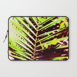 Palm Leaves, Bright Green, Yellow and Magenta Laptop Sleeve