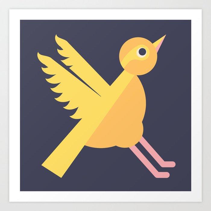 Letter X // Animal Alphabet // Xenops Monogram Art Print