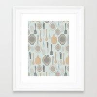 kitchen Framed Art Prints featuring kitchen by La Señora