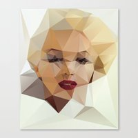 duvet Canvas Prints featuring Monroe. by David