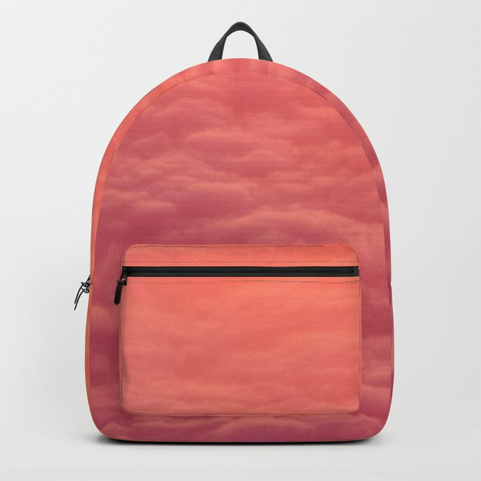 Magical Pink Orange Ombre Grant Colorful Clouds Pastel Cotton Candy Texture Backpack