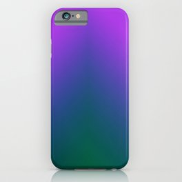 Plush Peacock Ombre iPhone Case