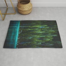 Evergreen Forest on Water (Color) Rug