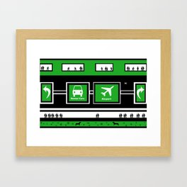 Busy Airport Framed Art Print