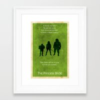 princess bride Framed Art Prints featuring The Princess Bride by Chad Trutt