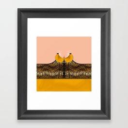 Lingeramas - Sexy Leopard Print Lingerie Top Framed Art Print