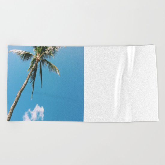 Clouds and Palms  Beach Towel