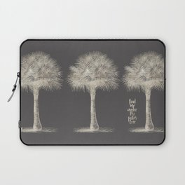 Palm tree - botanical silver illustration Laptop Sleeve