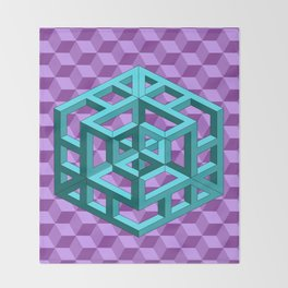 impossible patterns Throw Blanket