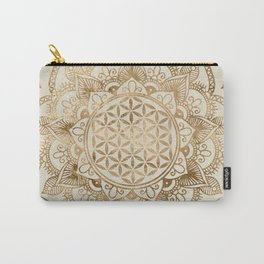 Flower of Life in Lotus - pastel golds and canvas Carry-All Pouch