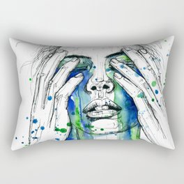 Don't fight my tears 'cause they feel so good. Rectangular Pillow