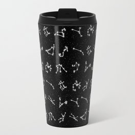 Zodiac Constellation Pattern Travel Mug