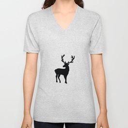 Black and white nordic deer Unisex V-Neck