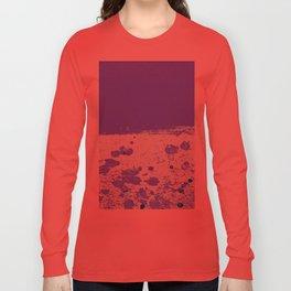 Ink Drop Blue Long Sleeve T-shirt