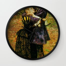 John Everett Millais - A Huguenot (A Huguenot on St Bartholomew's Day) Wall Clock