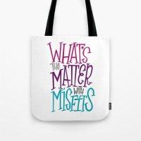misfits Tote Bags featuring Misfits by Chelsea Herrick