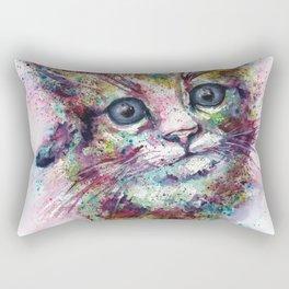 Kitten Cat watercolor print Rectangular Pillow