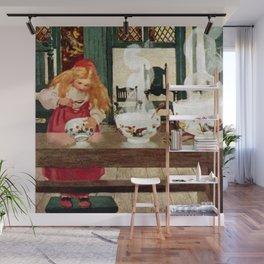 """Goldilocks and the Porridge"" by Jessie Willcox Smith Wall Mural"