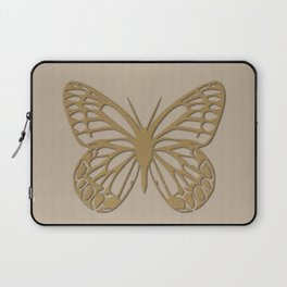 Cute Giant Gold Butterfly Laptop Sleeve