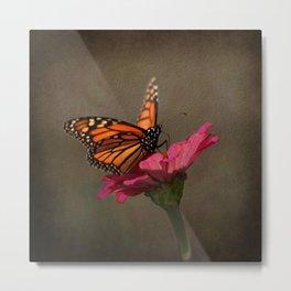 Prefect Landing - Monarch Butterfly Metal Print