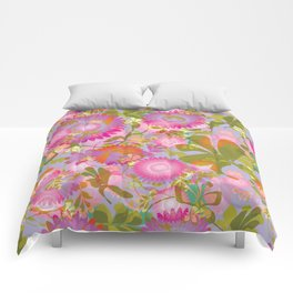 Blooming Color Comforters