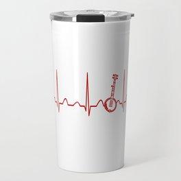BANJO HEARTBEAT Travel Mug