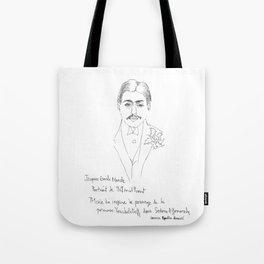 Marcel Proust portrait Tote Bag