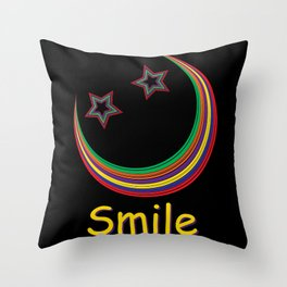 Smile and light up the night sky Throw Pillow
