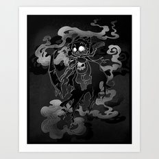 Deathly Bear Art Print