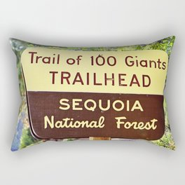 Trail of 100 Giants Vintage National Forest Sign Rectangular Pillow