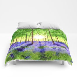 Bluebell woods Comforters
