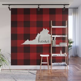 Virginia is Home - Buffalo Check Plaid Wall Mural