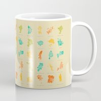 cities Mugs featuring Pop Cities by Nicksman