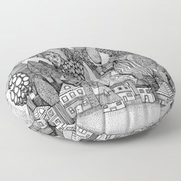 Mysterious Village Floor Pillow