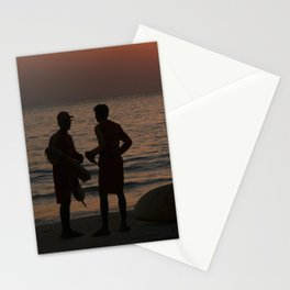 Life Guard Station at Sunset Palolem Beach Stationery Cards