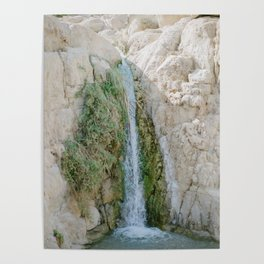 Desert Waterfall at Ein Gedi - Holy Land Fine Art Film Photography Poster