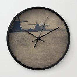 Kinderdijk Windmills II Wall Clock
