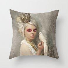 The Queen of Tarts Throw Pillow