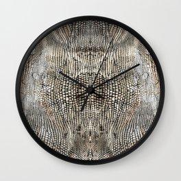 snake skin pattern / animal print Wall Clock