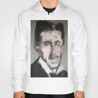tesla Hoodies featuring Tesla by Larry Caveney