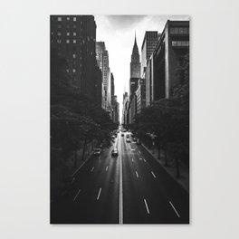 New York City (Black and White) Canvas Print