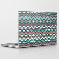 aztec Laptop & iPad Skins featuring Aztec. by Priscila Peress