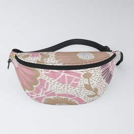 Pink & Gold Flowers Fanny Pack