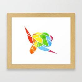 Shapeshifting Turtle Framed Art Print