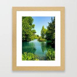 Aqua Lake Framed Art Print
