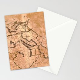 Map Of Caracas 1814 Stationery Cards